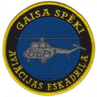 Patch on the overall Air Force Squadrons Latvia