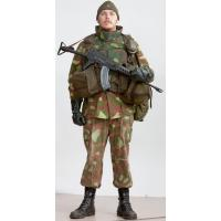 Woodland Camo Uniform M62 in full battle kit of reserve soldiers of Armed Forces Finland