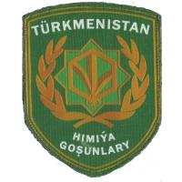 Armed Forces Turkmenistan. Chemical Biological Radiological troops protection Patch