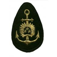 Naval Forces boatswain embroidered cockade /Latvian National Armed Forces/